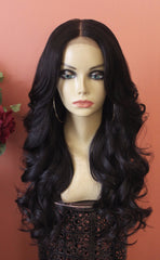 TreBella Wigs Cambodian wavy unit w/5x5in lace closure 22in