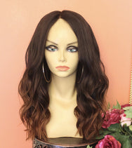 TreBella Wigs 16in closure unit w/light brown highlights - TreBella Wigs