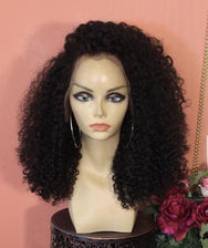 TreBella Wigs 16in Kinky Curly frontal unit - TreBella Wigs