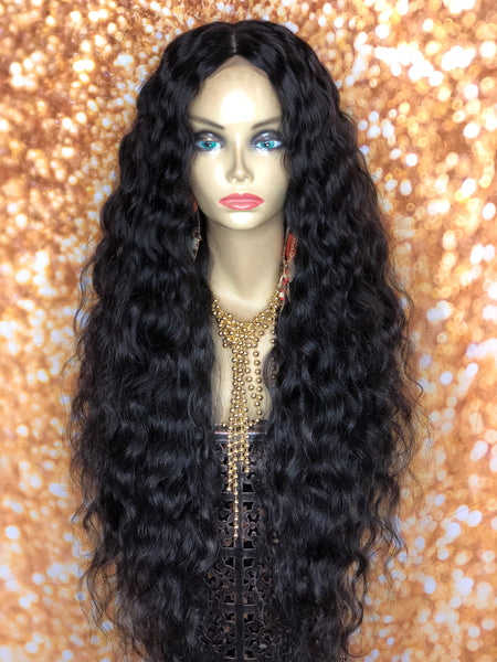 TreBella Wigs Indian curly unit w/ silk closure - TreBella Wigs