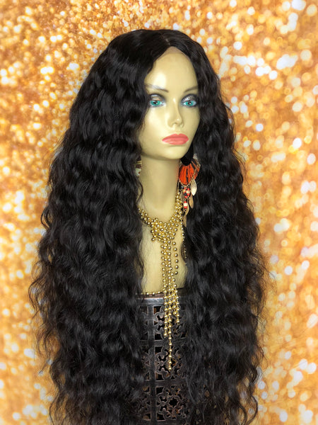 TreBella Wigs Custom Indian wavy/curly unit w/ silk closure - TreBella Wigs