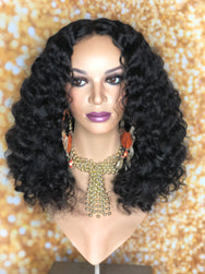 Gently Used TreBella Wigs Custom Cambodian Curly unit - TreBella Wigs