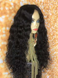 TreBella Wigs Indian curly unit w/ silk closure 20in - TreBella Wigs