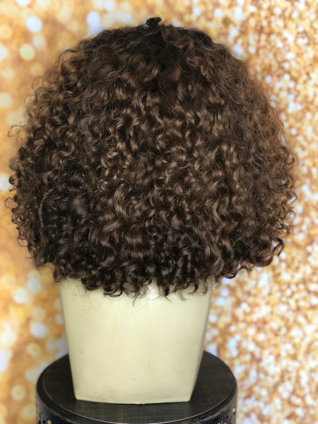 TreBell Wigs 3B Curly 14 inch unit
