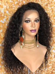 TreBella Wigs 18in Loose Curly frontal unit - TreBella Wigs
