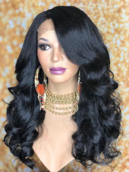 TreBella Wigs Indian wavy 18in unit w/lace closure - TreBella Wigs