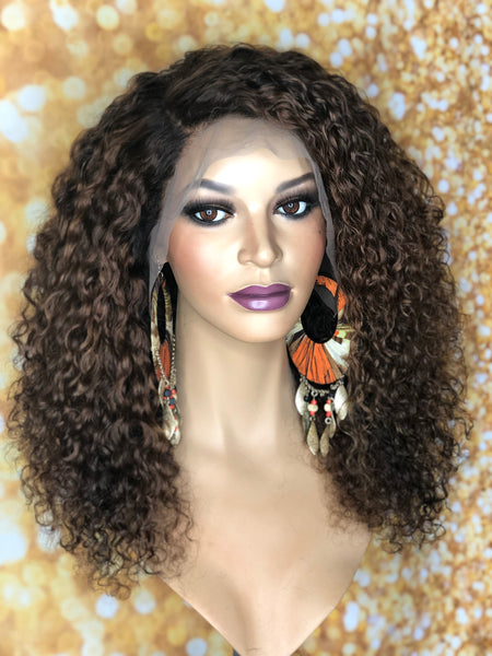 TreBella Wigs Curly 16in frontal unit - TreBella Wigs