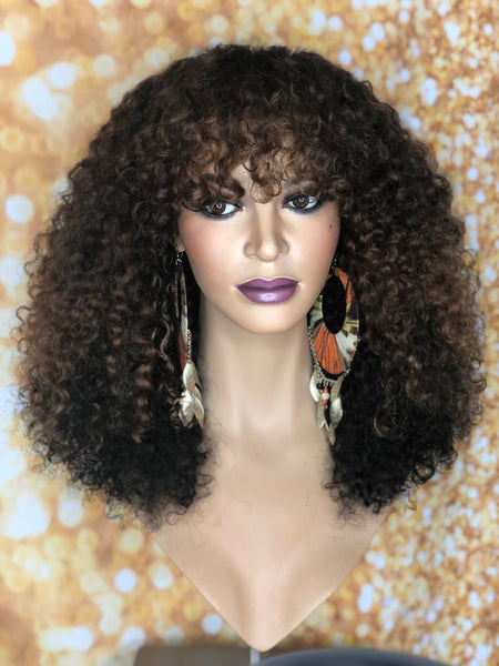 TreBella Wigs Kinky Curly closure unit 16in