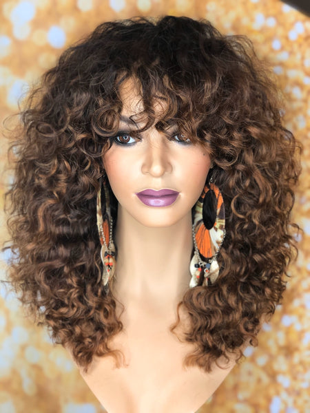 TreBella Wigs Custom Curly full unit 16in - TreBella Wigs