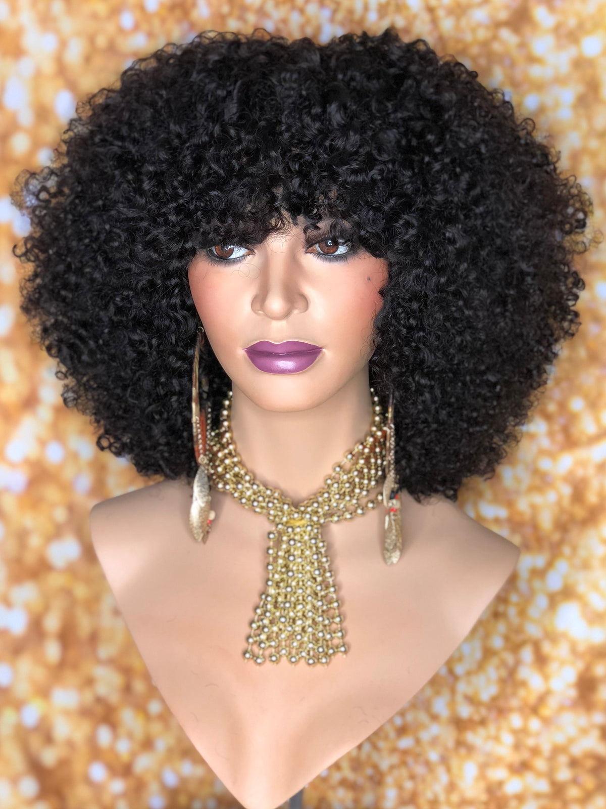 TreBella Wigs 12in Kinky Curly full unit - TreBella Wigs
