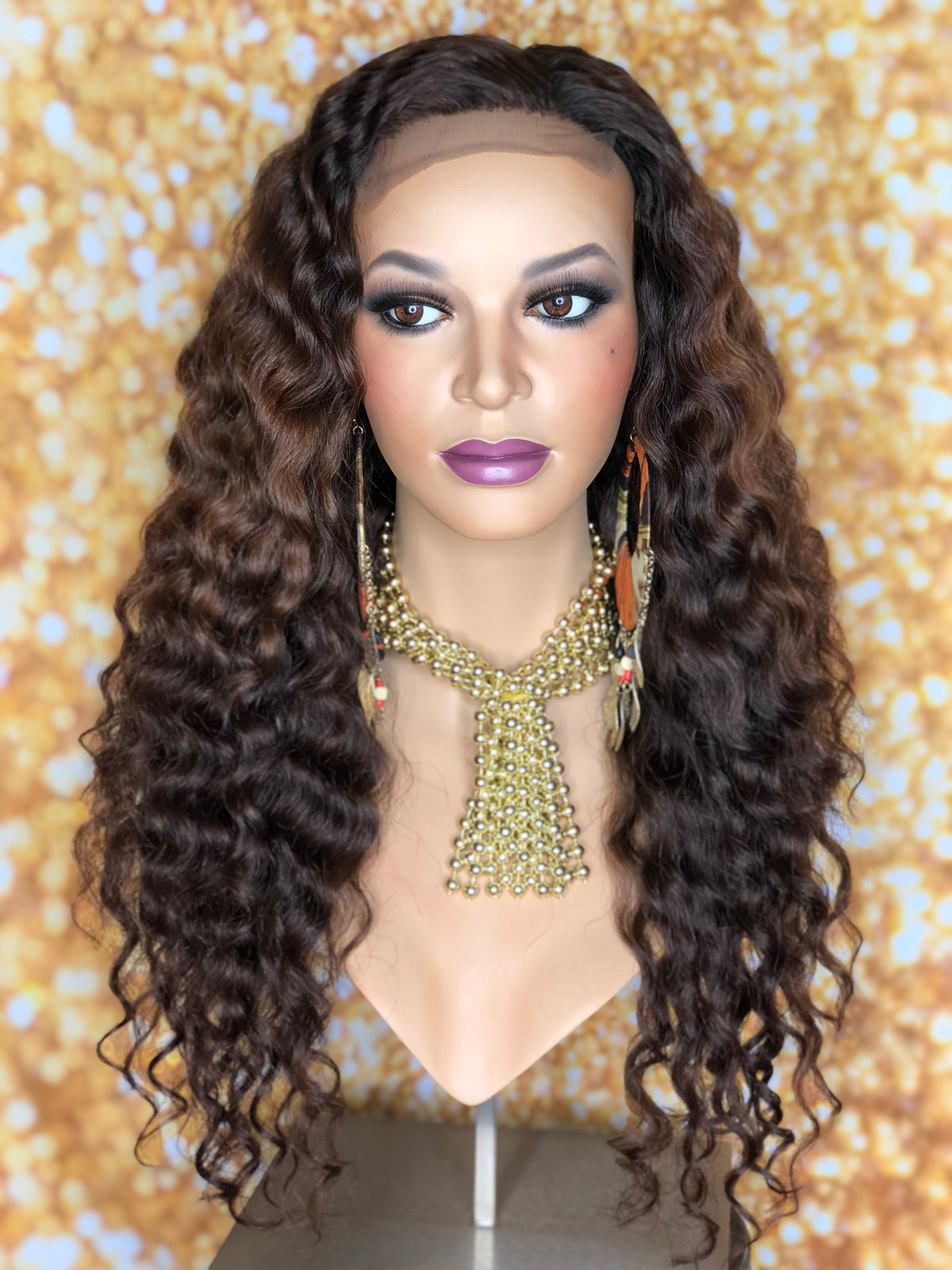 TreBella Wigs Custom Curly unit w/ lace closure unit 20in - TreBella Wigs