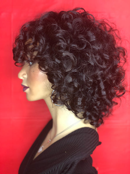 TreBella Wigs 12in Curly unit - TreBella Wigs