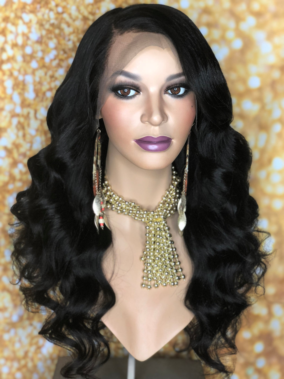 TreBella Wigs Smooth Yaki Texture Frontal Unit 18in - TreBella Wigs