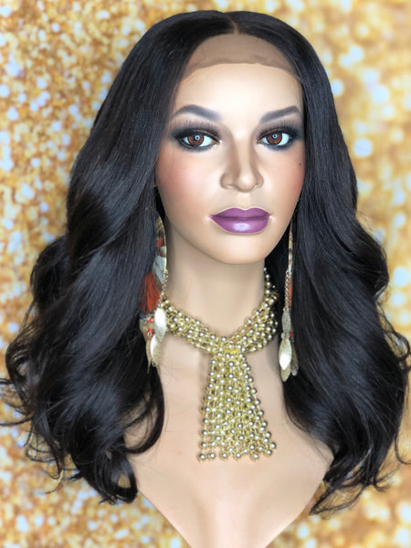 TreBella Wigs Custom Cambodian unit w/ lace closure unit 14in - TreBella Wigs