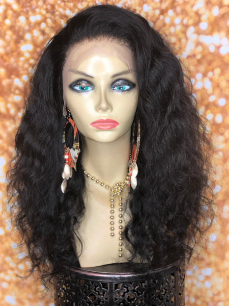 TreBella Wigs Indian wavy 16in unit w/ lace frontal (13x4)