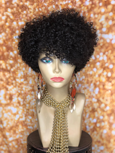 TreBella Wigs Kinky Curly Taper unit