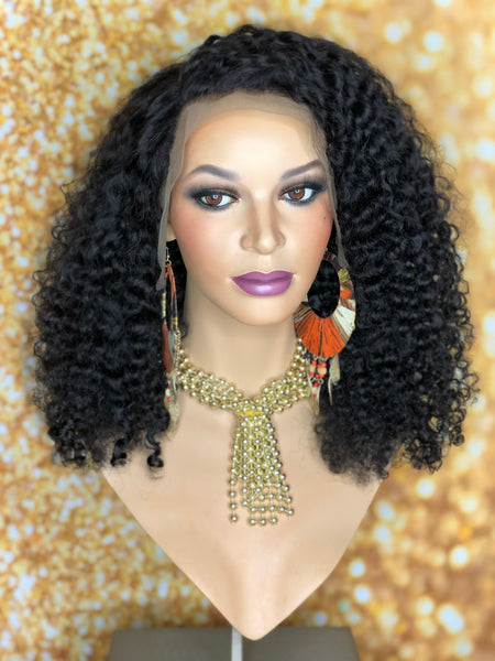 TreBella Wigs 12in Kinky Curly frontal unit - TreBella Wigs