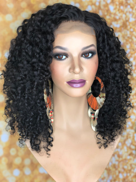 TreBella Wigs 3b Curly closure unit 14in - TreBella Wigs