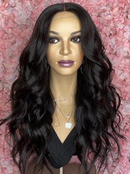 TreBella Cambodian Loose Wave Closure unit 18in