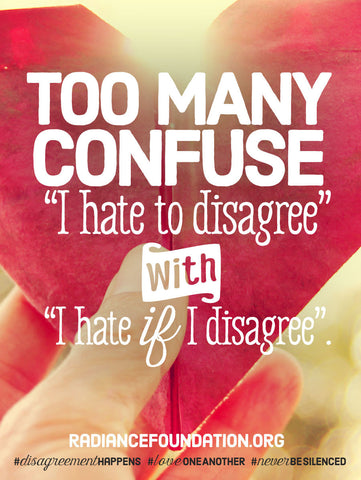 """HATE TO DISAGREE"" 18in x 24in Poster"