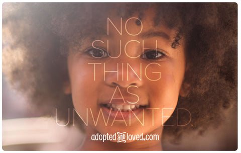 """NO SUCH THING AS UNWANTED - #1"" 4in x 6in Postcards"