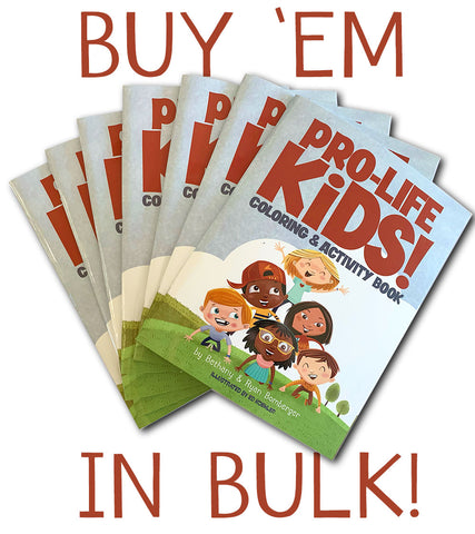 """PRO-LIFE KIDS! Coloring & Activity Book"" (DOMESTIC BULK ORDERS)"