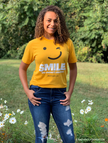"""Smile. You Weren't Aborted."" T-Shirt"