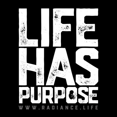 "2.5"" x 2.5"" STICKER - ""Life Has Purpose"" (black)"