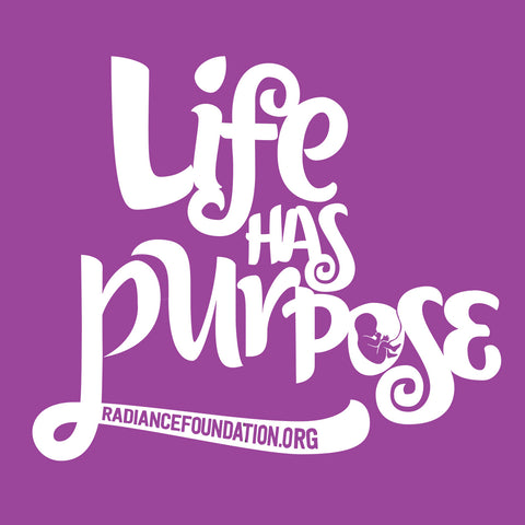 "2.5"" x 2.5"" STICKER - ""Life Has Purpose"" (purple)"