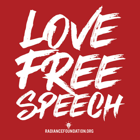 "4""x4"" STICKER - ""Love Free Speech"""