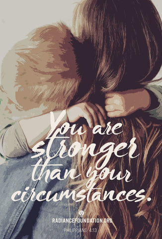 """YOU ARE STRONGER THAN YOUR CIRCUMSTANCES"" Sidewalk/Campus Resource Cards"