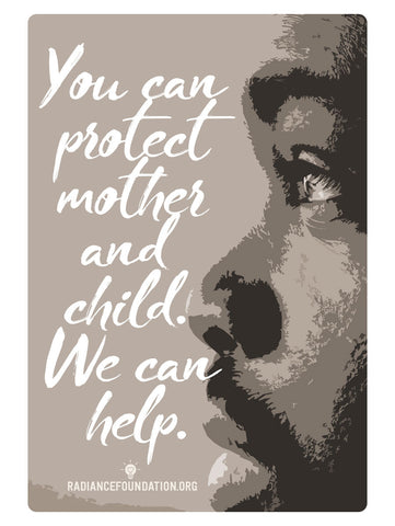 """YOU CAN PROTECT MOTHER AND CHILD"" Sidewalk/Campus Resource Cards"