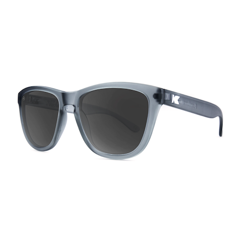 lenoor crown knockaround premiums sunglasses frosted grey smoke