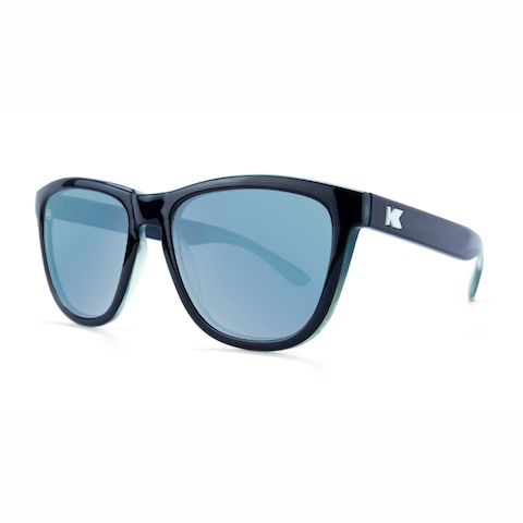 lenoor crown knockaround premiums sunglasses black blue ice geode sky blue