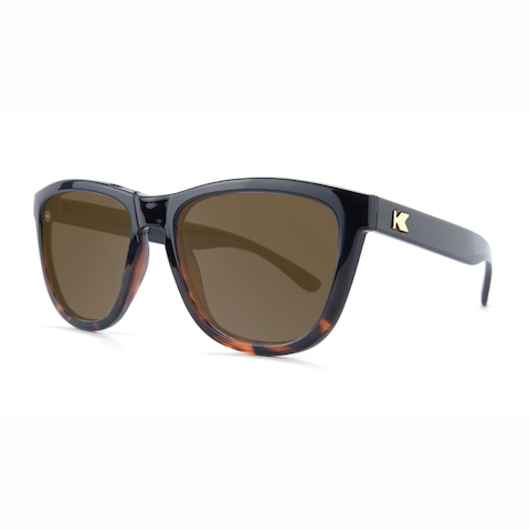 lenoor crown knockaround premiums sunglasses black tortoise fade amber