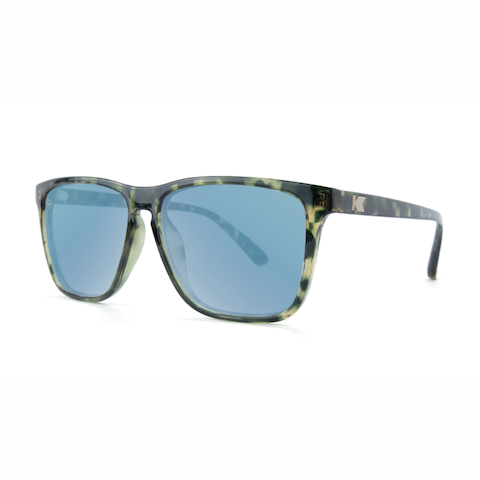 lenoor crown knockaround fast lanes sunglasses slate tortoise shell sky blue