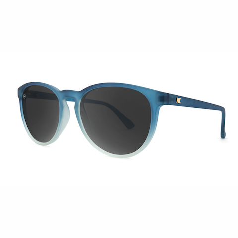 lenoor crown knockaround mai tais sunglasses frosted rubber blue ice smoke