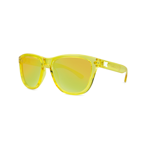 lenoor crown knockaround kids premiums sunglasses yellow monochrome