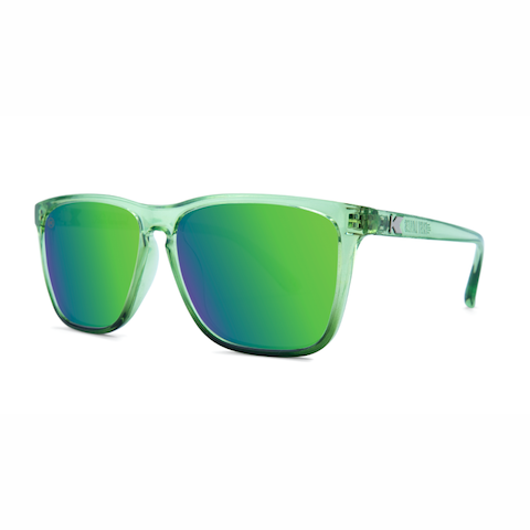 lenoor crown knockaround fast lanes sunglasses glossy juniper fade green moonshine