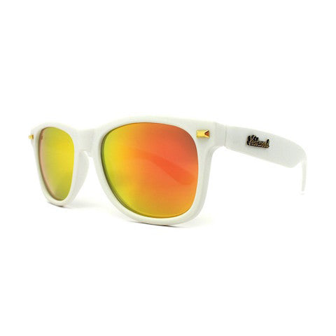 lenoor crown knockaround fort knocks sunglasses matte white sunset
