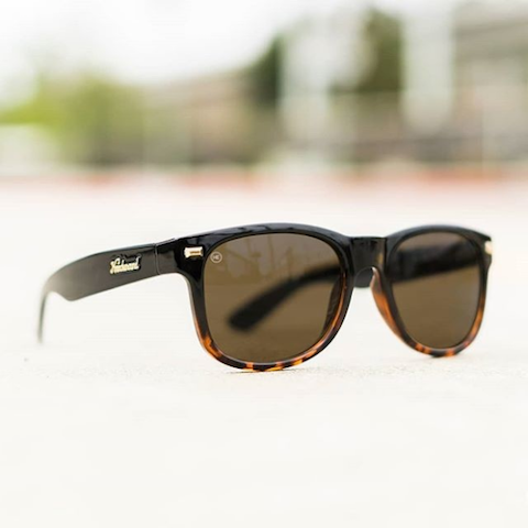lenoor crown knockaround fort knocks sunglasses black tortoise fade amber