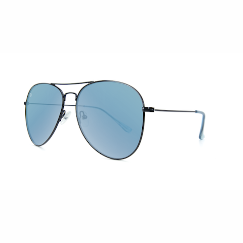 lenoor crown knockaround mile highs sunglasses black sky blue