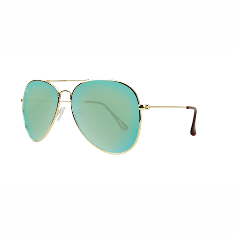 lenoor crown knockaround mile highs sunglasses gold yellow aqua