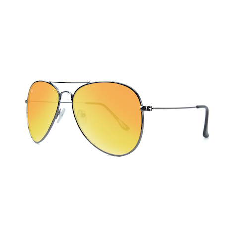 lenoor crown knockaround mile highs sunglasses gunmetal sunset