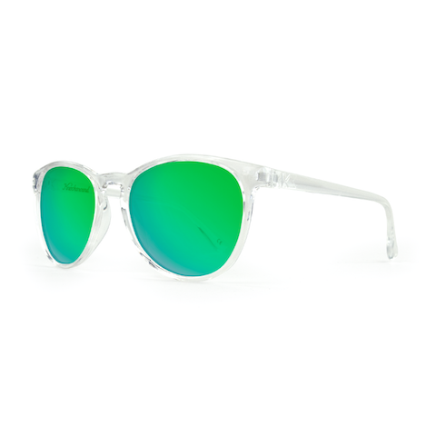 lenoor crown knockaround mai tais sunglasses clear green moonshine