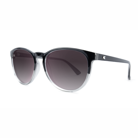 lenoor crown knockaround mai tais sunglasses glossy black tie smoke