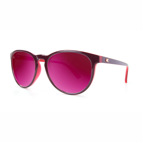 lenoor crown knockaround mai tais sunglasses burgundy watermelon geode fuchsia