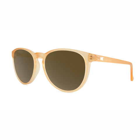lenoor crown knockaround mai tais sunglasses frosted rose quartz amber