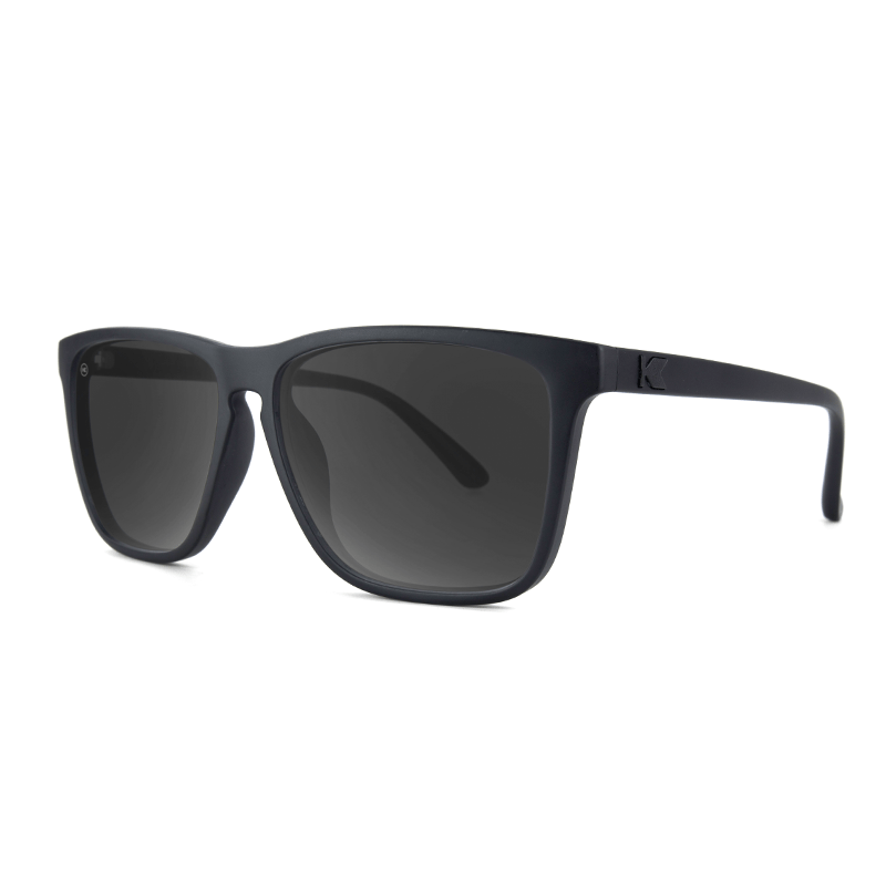 lenoor crown knockaround fast lanes sunglasses black on black