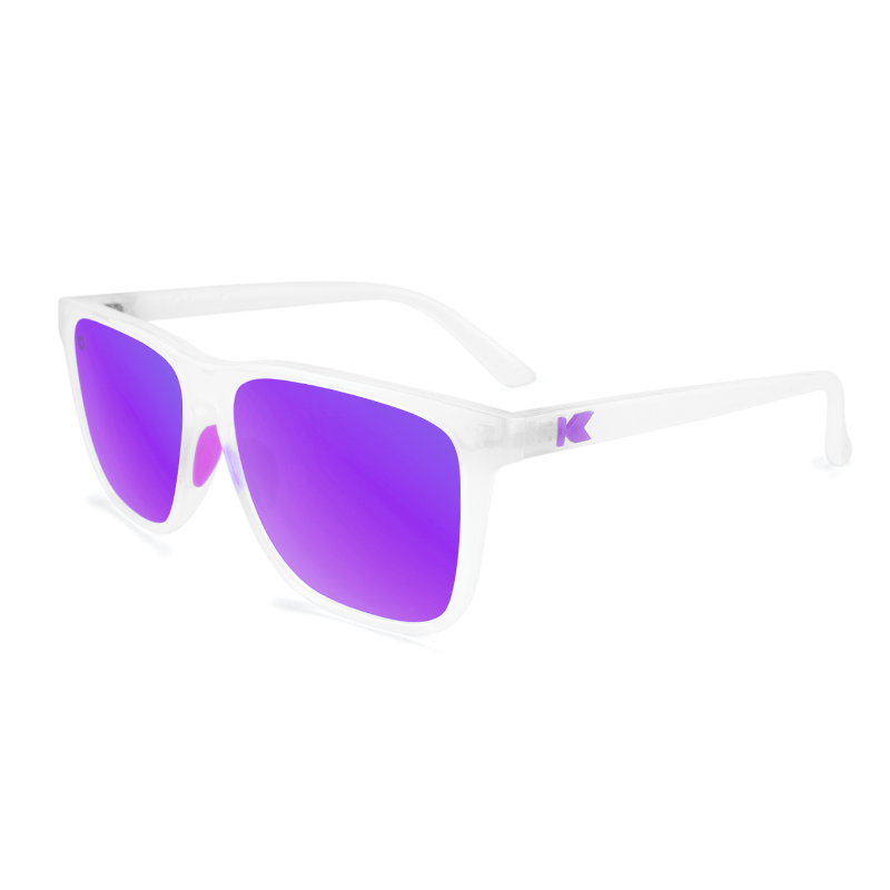 lenoor crown knockaround fast lanes sport sunglasses clear jelly purple